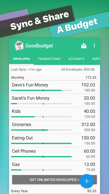 Goodbudget_ Budget & Finance app screenshot
