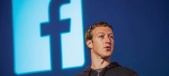 Mark Zuckerberg on stage At Press Event