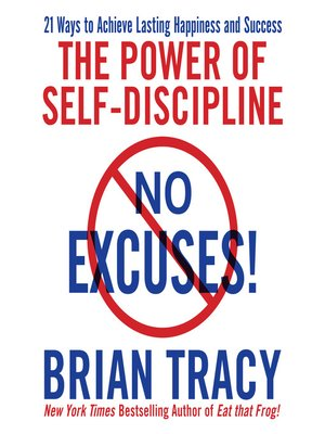 No Excuses! The Power of Self-Discipline book cover