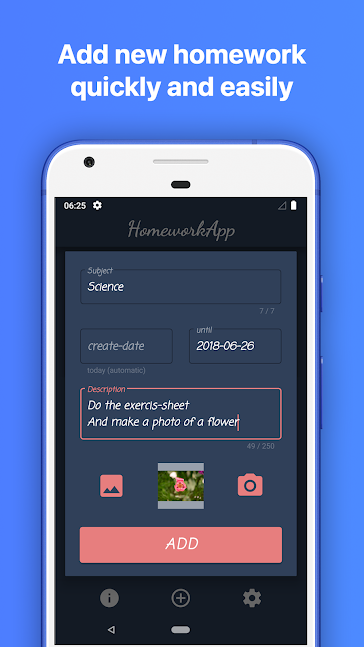 The HomeworkApp app screenshot 1