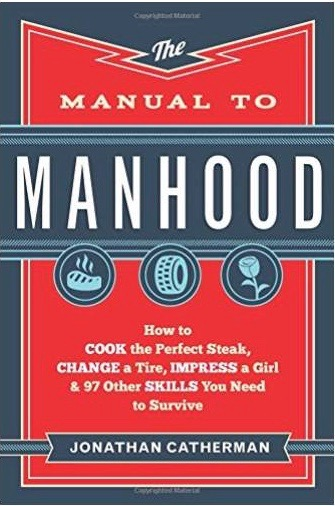 The cover of the book titles manual to manhood