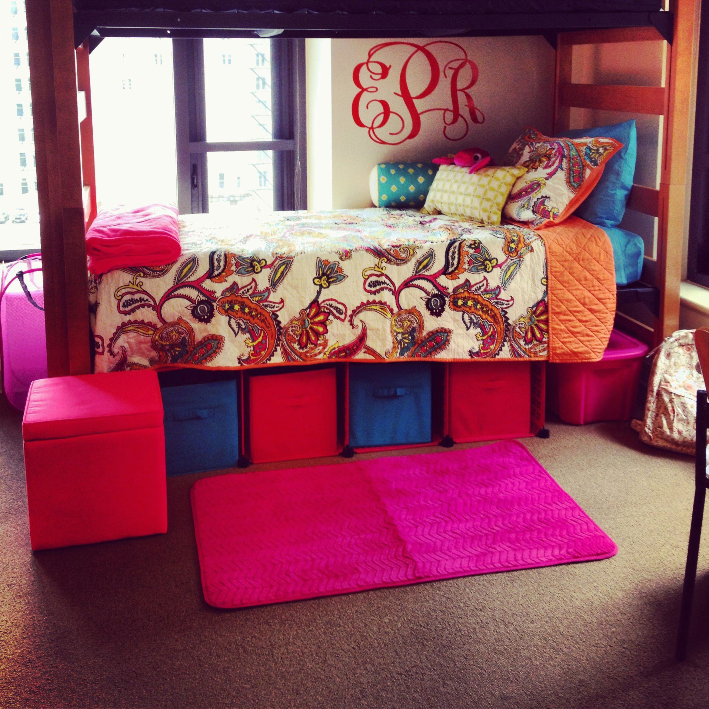 a-college-student-dorm-bed-decorated-with-vibrant-colored-objects.