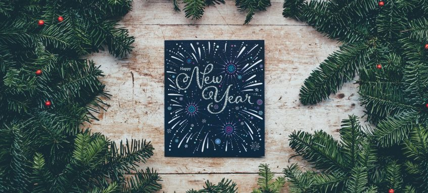 a decorated happy new year card
