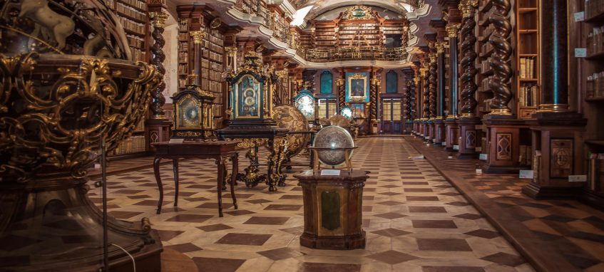 an old baroque libraby