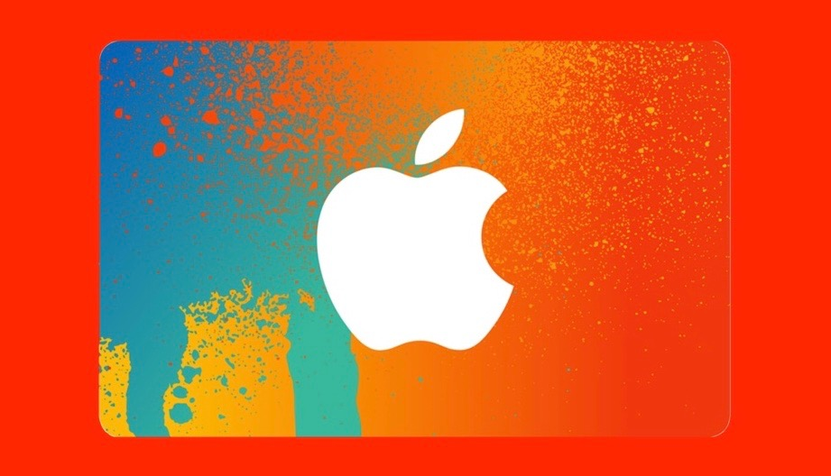 colored iTunes gift card