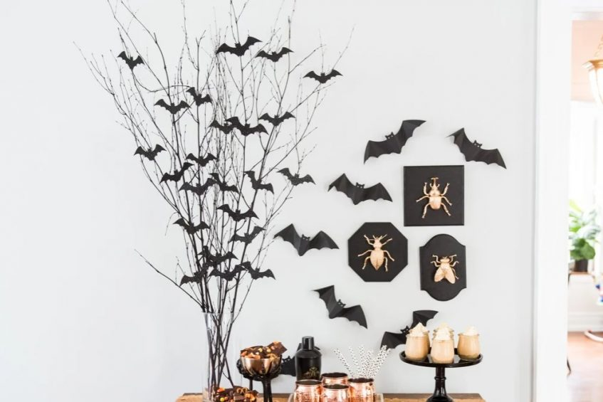 bat branches centerpiece