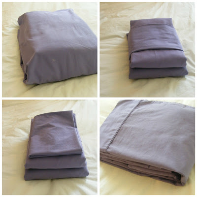 sheets folded in pillow case