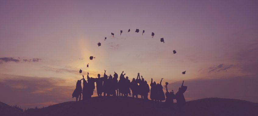 graduation students at the dawn