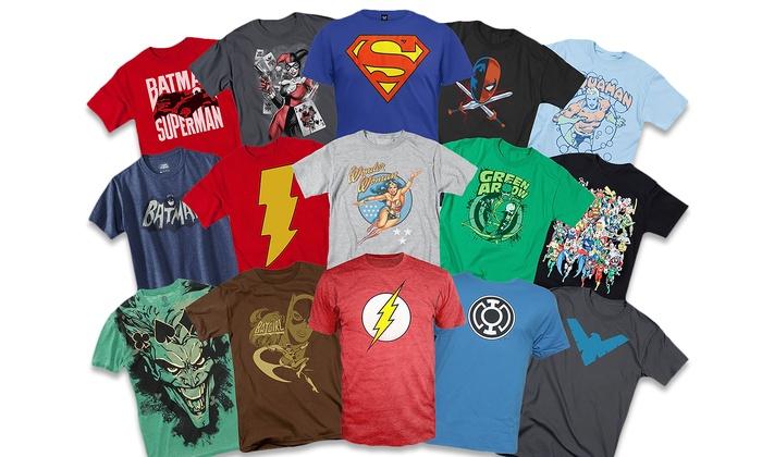 several personalized superhero t-shirts